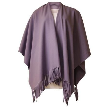 Nu zeer voordelig Dames mantel cape poncho lila bestellen
